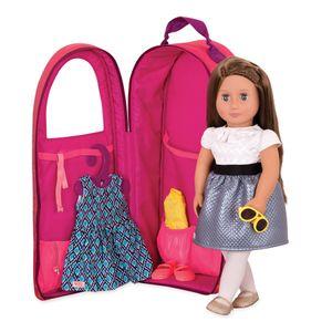 Our Generation - Puppen-Tragetasche pink mit Herzen für Puppe 46 cm