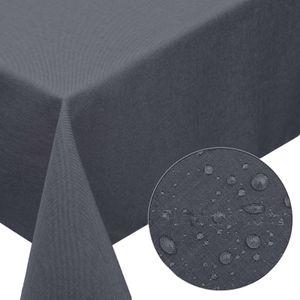 Melody® Premium Tischdecke Leinen-Optik abwaschbar mit Fleckschutz 130x220cm eckig grau