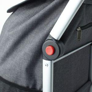 Fabrizio gepäckwagen 41 L Aluminium/Polyester schwarz