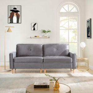 3-Sitzer Sofa,Couch für Wohnzimmer, Gemütlich Morderne Couch mit dezenten Designelementen, Federkern und loser Rücken, 194 × 76 × 90 cm