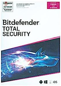 Bitdefender Total Security 2020 3 Geräte/18Monate, Code in a Box