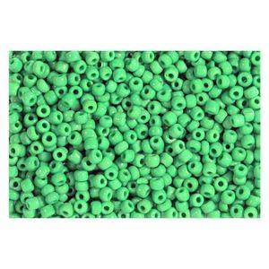 Rocailles grün opak 2,5mm Perlen - 500g Großpackung (ca. 16.000 Stück)