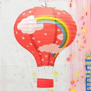 2 Stück 30,5 cm Regenbogen Heißluftballon Papierlaternen Ballon Partyzubehör