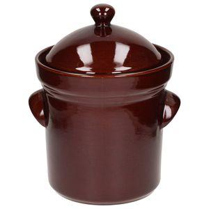 Bunzlauer Keramik GÄRTOPF Steinzeug Sauerkrauttopf Gurkentopf Rumtopf DECKEL 5 L