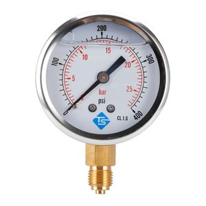 "Utility Vakuumanzeige Dual Scale 1/4 \""BSP Bottom 2\"" Messuhr MINI SIZE 0-400psi runden Vakuummessgerät wie beschrieben"