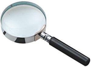 JPC Leselupe mit Griff rund Durchmesser: 75 mm Glaslinse 3-fache Vergrößerung