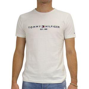 Tommy Hilfiger Logo-T-Shirt Herren Weiß (MW0MW11465 118) Größe: XL