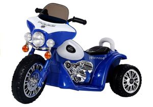 Kindermotorrad Kinder Polizei Motorrad Elektromotorrad Kinderfahrzeug 25W Motor