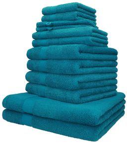 Betz 12-tlg. Handtuch-Set PALERMO 100% Baumwolle, Farbe petrol