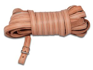 Schweißriemen Schweissleine Leder 10m natur 14mm