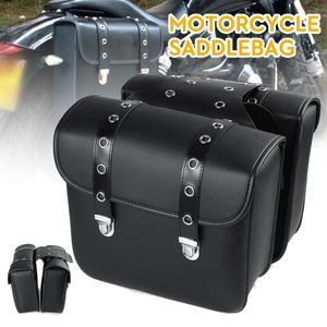 1 Paar Kunstleder Leder Motorrad Motorrad Satteltasche Gepäcksattel Werkzeugtasche Schwarz