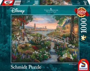 Schmidt Spiele Puzzle Thomas Kinkade Disney 101 Dalmatiner 1.000 Teile