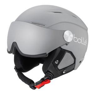 Bollé Blackline Visor Skihelm Damen und Herren Snowboardhelm 3 Farben , Farbe:matte grey & white, Helmgröße:Gr. 59-61cm