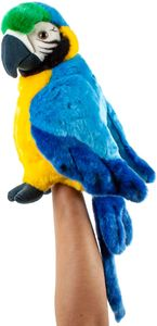 Teddys Rothenburg Kuscheltier Papagei Handpuppe blau 25 cm Stoffpapagei
