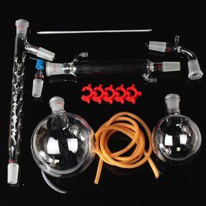 MUSTOOL 1000ml 24/40 Destillationsapparat Labor Vakuum Rundkolben Säulenschlauchadapter