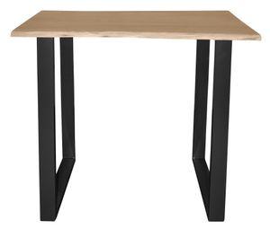 SIT Möbel Bartisch | B120 x T80 x H110 cm | Platte natur, Gestell antikschwarz|07107-67| Serie TISCHE & BÄNKE
