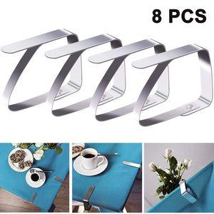 Tischdeckenklammer - 8 STÜCK Tischtuchklammer Tischtuch Klammer Edelstahl Tischklammern Tischdeckenklemmen Tischdeckenhalter Tischdeckenhalter (5 cm x 4 cm) für Dicke 2-4 cm