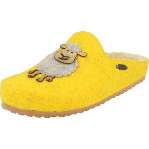Supersoft Damen Schuhe Hausschuhe Clogs 522-298 gefüttert Filz Pantoffeln Yellow