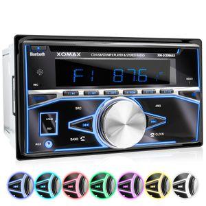 XOMAX XM-2CDB622 2DIN Autoradio mit MicroSD, USB, CD und Bluetooth