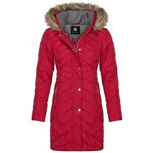 New View Damen Steppmantel, Farbe:rot, Größe:XL