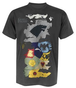 Game of Thrones TShirt Westeros Wappen-Karte S