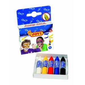 Schminkstifte Set - 5 Farben - Kinder Schminke Karneval Fasching Halloween