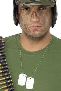 Soldat Kostüm Zubehör Dog Tag Erkennenungsmarke Hundemarke Karneval
