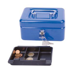 Geldkassette Münzkassette Geldzählkassette Stahl , Maße:15 x 12 x 8cm