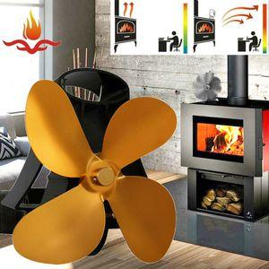 Stromloser Kaminofen Ofenventilator Stove Fan 4 Flügel Gebläse Holzofen  60 °C und 350 °C