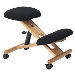 Kniehocker VILLACH höhenverstellbar, ergonomisch in schwarz