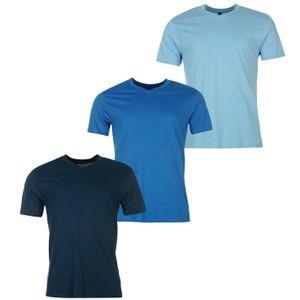 Donnay Herren, Herren Three Pack V Neck T Shirt XXL