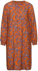 Street One Kleider kurz Damen Smok Dress_Moderat_L96 Größe 34, Farbe: 32905 shiny tangerine