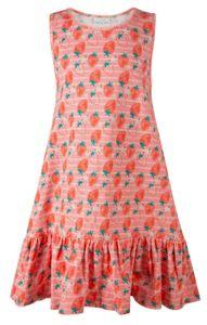 Happy Girls® Mädchen Kleid Erdbeere ECO, Größe:146, Präzise Farbe:Flamingo