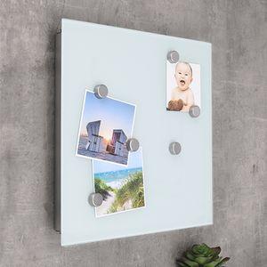 Schlüsselkasten mit Glas Magnettafel - Memoboard inkl. 6 Magnete