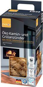 Dekor Öko Grill Holzwolle Grill Holz Kaminanzünder Anzünder Geruchsneutral 1kg