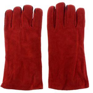 33cm Lange Rindsleder Schweißerschutzhandschuhe Leder Handschutz Hitzebeständig