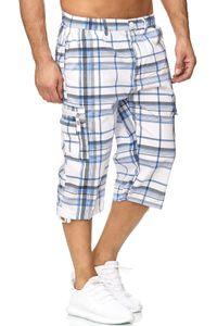 Herren Shorts Bermuda Kurze Hose Fresh-Air Kariert H1273, Farben:Hellblau, Größe Shorts:M