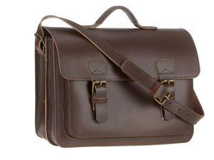 Ruitertassen Aktentasche Leder 2 Fächer (A4 Format) Lehrertasche 38cm Schultasche Businesstasche braun 2140-13