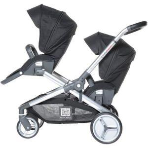 Doppelter Kinderwagen Evolutwin Black