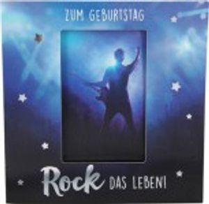 Geburtstagskarte Klappkarte 3D mit Musik & Licht Zum Geburtstag Rock das Leben!