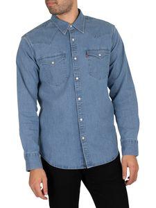 Levi's Herren Barstow Western Standard Shirt, Blau XL