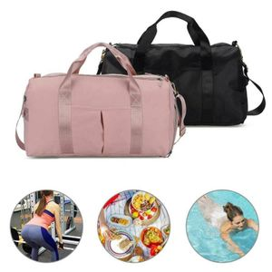 35L Große Sporttasche Reisetasche Trainingstasche Fitnesstasche Damen Tasche Rosa