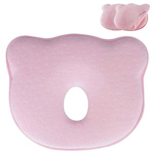 Orthopädisches Babykissen gegen Verformung Plattkopf Baby Soft Pillow Geschenk Pink