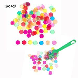 Verschiedene Multicolor Bingo Chips Mit Magnetische Zauberstab Zauberstab Mit 100 Chips Größe Zauberstab mit 100 Chips