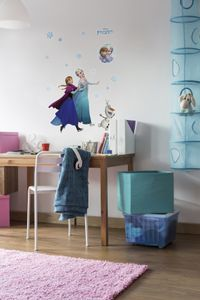 """Komar Deco-Sticker """"Anna und Elsa"""", blau, weiß, bunt, 50 x 70 cm; 14048h"""