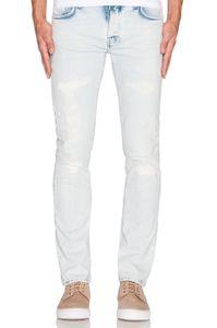 Nudie Slim Fit Jeans - Grim Tim - Ripped Sea, Größe:W29, Schrittlänge:L32
