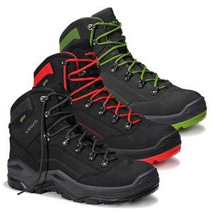 LOWA Renegade Work GTX Mid S3, Farbe:schwarz/grün, Schuhgröße:44 (UK 9.5)