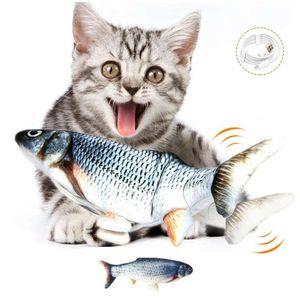 Boomersun USB Katzenspielzeug inkl. Katzenminze Fisch Karpfen USB Fische Elektrische Simulation Fischspielzeug Wagging Spielzeug