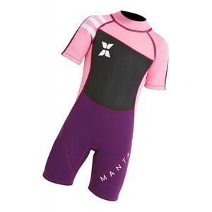 2.5mm Kinder Kurzarm Neoprenanzug Beach Diving Bademode Badeanzug Pink XL Größe XL