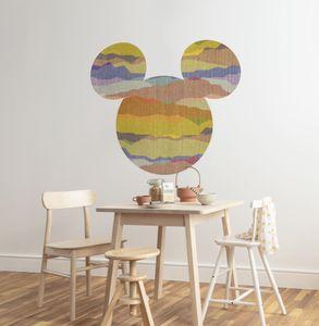 "Komar Vlies Fototapete rund und selbstklebend ""Mickey Head"" - Größe: 127 x 127 cm (Breite x Höhe) - 1 Stück"